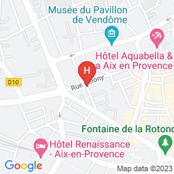 Mappa APARTHOTEL ADAGIO AIX EN PROVENCE CENTRE