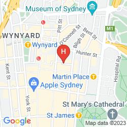 Mappa MEDINA SERVICED APARTMENTS MARTIN PLACE