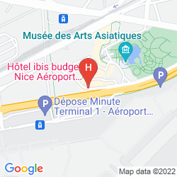 Mappa CAMPANILE NICE AEROPORT