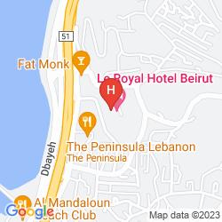 Mappa LE ROYAL HOTEL - BEIRUT