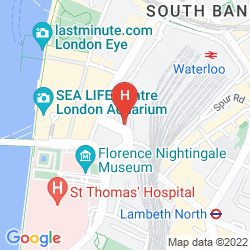 Mappa PARK PLAZA COUNTY HALL LONDON