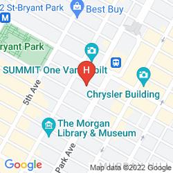 Mappa DYLAN HOTEL NYC