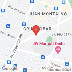 Mappa EUGENIA HOTEL QUITO
