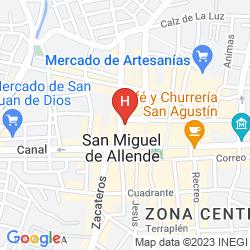 Mappa REAL DE MINAS SAN MIGUEL DE ALLENDE