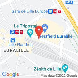 Mappa CITADINES CITY CENTRE LILLE