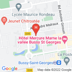 Mappa VILLA BELLAGIO MARNE-LA-VALLÉE BUSSY SAINT GEORGES