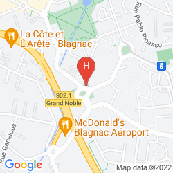 Mappa HOLIDAY INN TOULOUSE AIRPORT
