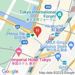 Mappa THE PENINSULA TOKYO