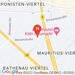 Mappa MEININGER HOTEL KOLN CITY CENTER