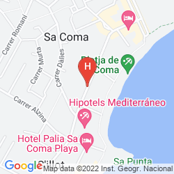 Mappa HIPOTELS MEDITERRANEO CLUB