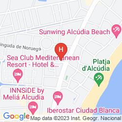 Mappa ALCUDIA BEACH APARTHOTEL