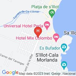 Mappa APARTAMENTOS PLAYA MOREIA