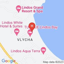 Mappa SENTIDO LINDOS BAY RESORT & SPA