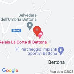 Mappa RELAIS LA CORTE DI BETTONA