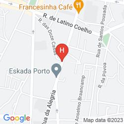 Mappa TRYP PORTO CENTRO