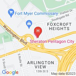 Mappa SHERATON PENTAGON CITY