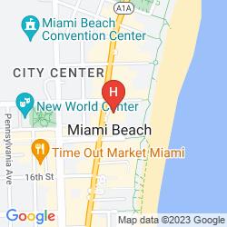 Mappa NATIONAL HOTEL MIAMI BEACH