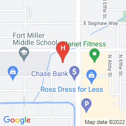 Mappa THE HOTEL FRESNO