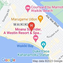Mappa WAIKIKI BEACHCOMBER BY OUTRIGGER