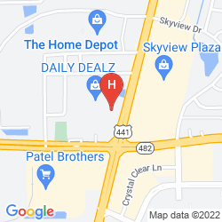 Mappa THE HERITAGE HOTEL ORLANDO