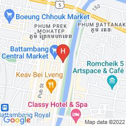 Mappa LA VILLA BATTAMBANG