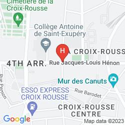 Mappa KYRIAD LYON CENTRE - CROIX ROUSSE