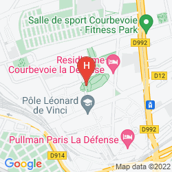 Mappa APARTHOTEL ADAGIO LA DEFENSE LE PARC
