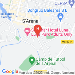 Mappa HOSTAL ARENAL PINS