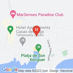 Mappa APARTAMENTOS DIONI