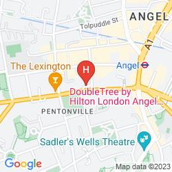 Mappa DOUBLETREE BY HILTON HOTEL LONDON - ISLINGTON