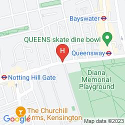 Mappa DOUBLETREE BY HILTON LONDON - HYDE PARK