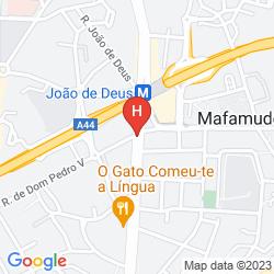 Mappa CLIPHOTEL GAIA PORTO