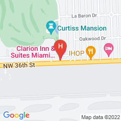 Mappa CLARION INN & SUITES MIAMI AIRPORT