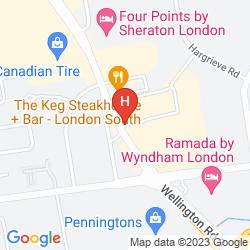 Mappa HOWARD JOHNSON HOTEL LONDON