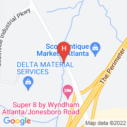 Mappa SUPER 8 ATLANTA-JONESBORO ROAD