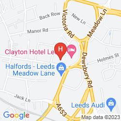 Mappa CLAYTON HOTEL LEEDS