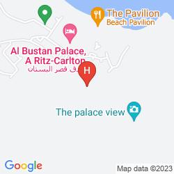 Mappa AL BUSTAN PALACE, A RITZ CARLTON