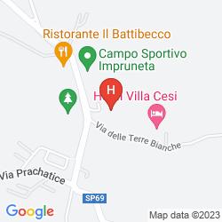 Mappa PARK HOTEL VILLA CESI
