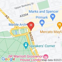 Mappa LONDON MARRIOTT HOTEL PARK LANE