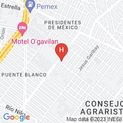 Mappa RADISSON PARAISO HOTEL MEXICO CITY