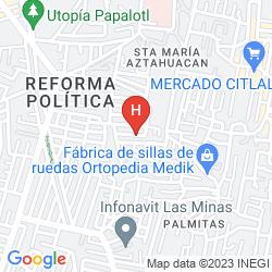 Mappa SHERATON MEXICO CITY MARIA ISABEL