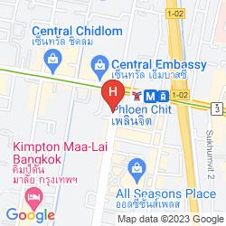 Mappa GRANDE CENTRE POINT HOTEL PLOENCHIT