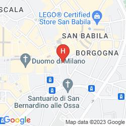Mappa  iH EXCLUSIVE MILANO AMBASCIATORI