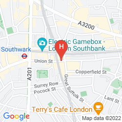 Mappa TRAVELODGE LONDON SOUTHWARK