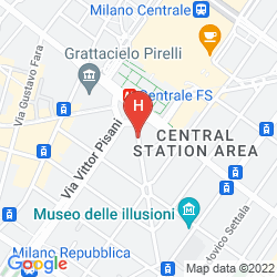 Mappa SMART HOTEL MILANO CENTRAL STATION
