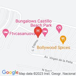 Mappa APARTAMENTOS CASTILLO BEACH VISTAS