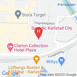 Mappa SCANDIC KARLSTAD CITY