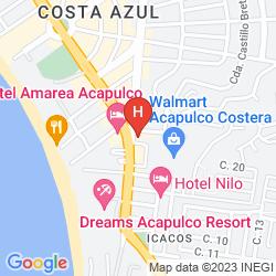 Mappa CASA INN ACAPULCO