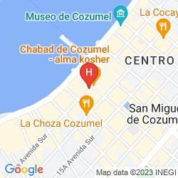 Mappa SECRETS AURA COZUMEL