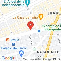 Mappa SUITES PLAZA FLORENCIA